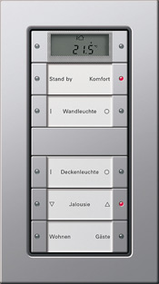 Сенсорный выключатель 5-клавишный Gira E22