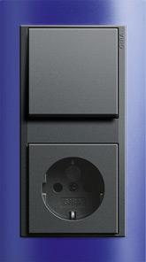 Розетка и выключатель Gira Event Opaque