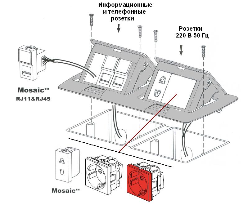 Металлическая установочная коробка